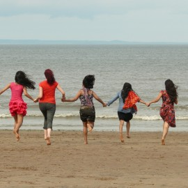 Students At Portobello Beach