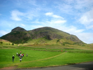 SUISS students ascending Edinburgh's Arthur's Seat