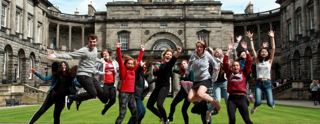 Summer school students at Edinburgh's Old College